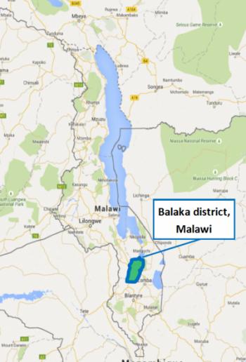 Malawi project map