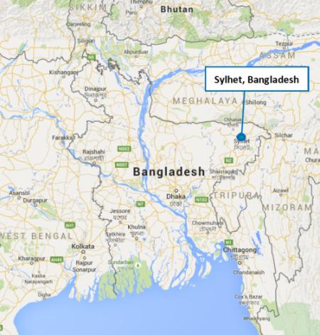 Bangladesh project map