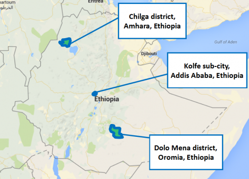 Ethiopia project map