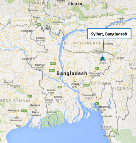 Bangladesh project map